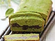 Greentea redbean cake