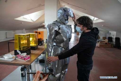 The most advanced! Turkish man uses AI-3D to create 'Iron Man armor'